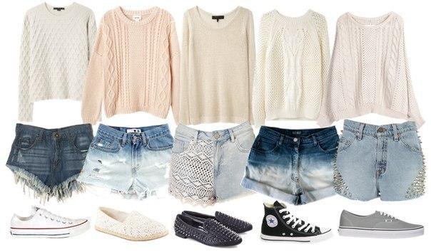 Модное трио: свитер + шорты + ?