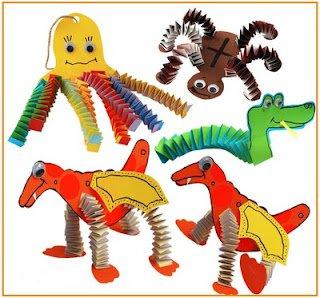 Забавные детские поделки из бумаги