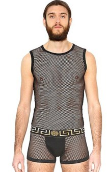Сетчатый бодик для мужчин от Versace