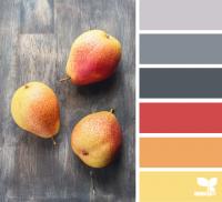 Серые и оранжевые оттенки для оформления интерьера