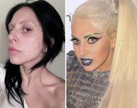 Леди Гага: в образе и без макияжа