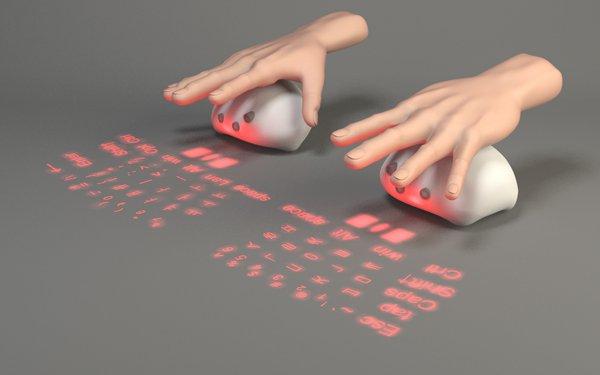 Концептуальная клавиатура и мышь Lumiquitous