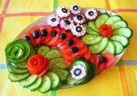 Красивый вариант овощной нарезки