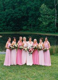 Выбираем платья для подружек невест: эффект омбре