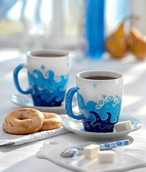 Роспись по чашке «Морозное утро»