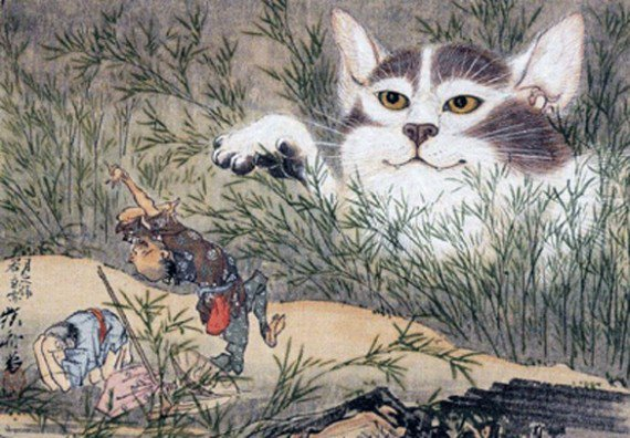 Странные существа из японских легенд: бакэнэко