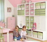 Идея для хранения игрушек в детской комнате