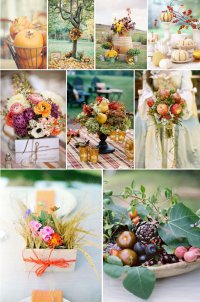 Осенняя стилистика свадьбы
