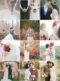 Свадьба осенью: образы невесты и жениха