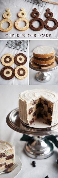 Как приготовить «шахматный» торт?
