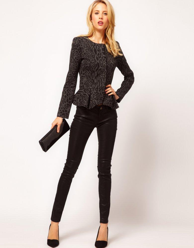 Модная офисная одежда на осень 2013: жакет с баской