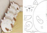 Диванные подушки-котики