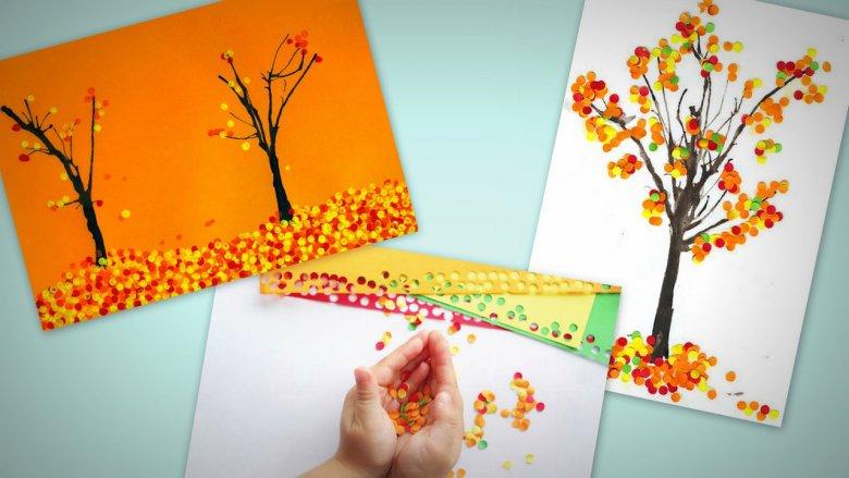 Рисуем с ребенком осень