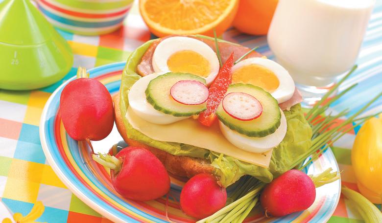 Бутерброд «Бабочка» для детского завтрака