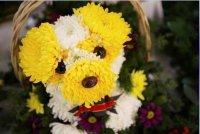 Необычная идея для букета цветов