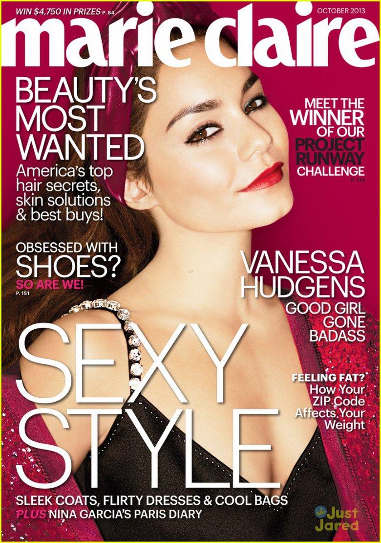 Ванесса Хадженс на обложке Marie Claire (октябрь 2013)
