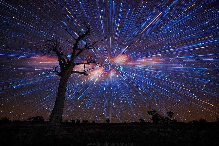 Удивительный звездопад в Австралии