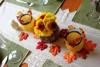 Идея осеннего декора стола