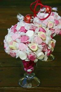 Оригинальный сладкий подарок: коктейль из конфет