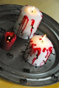 Кровоточащая свеча на Хэллоуин