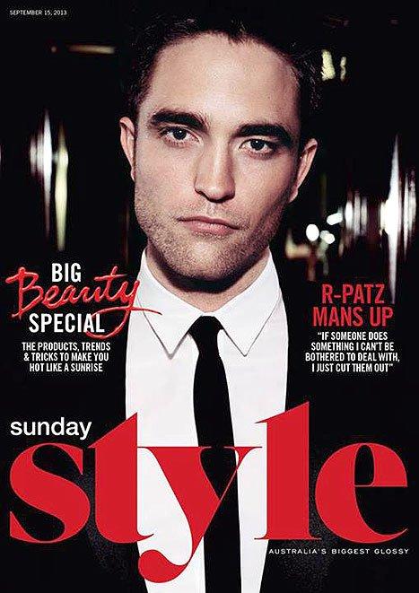 Роберт Паттинсон на обложке журнала Sunday Style