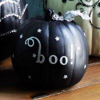 Тыква на Хэллоуин: черный и серебро