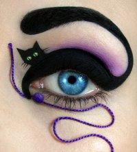 Макияж на Хэллоуин: черный кот