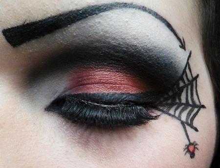 Макияж на Хэллоуин: паутинка