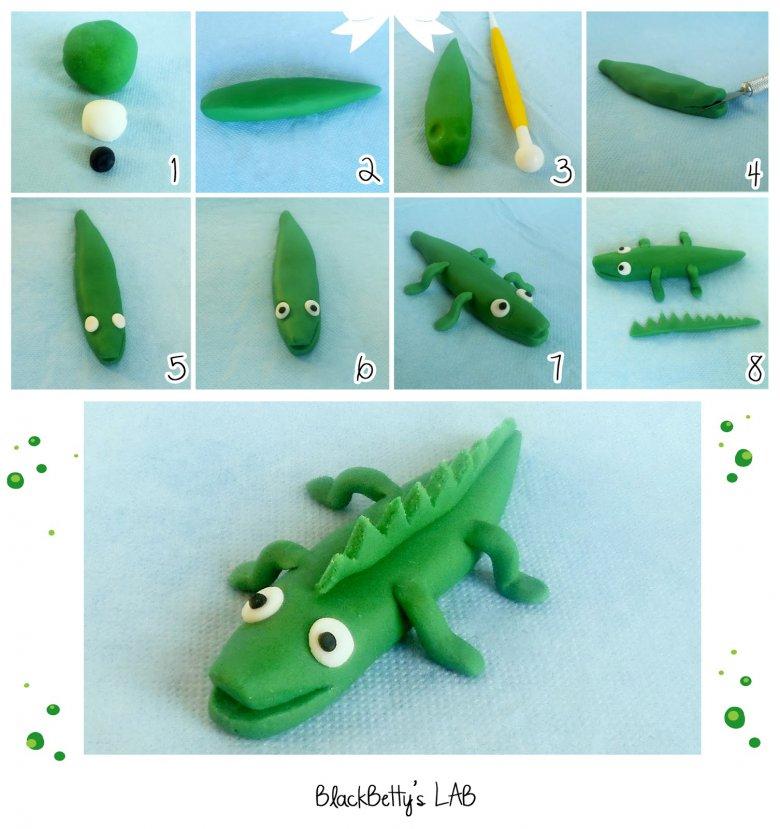Крокодил из мастики