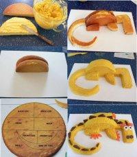 Как украсить торт: дракон