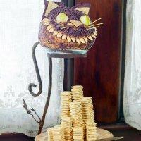 Сырный шар на Хэллоуин: Чеширский кот