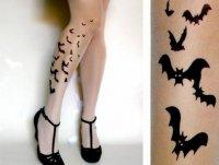 Колготочки с летучими мышами на Хэллоуин