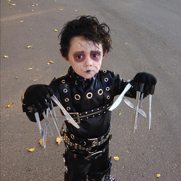 Детский Хэллоуин: маленький Эдвард Руки-ножницы