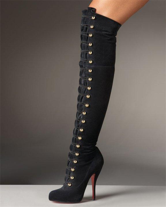 Модная обувь осень 2013: сапоги-чулки