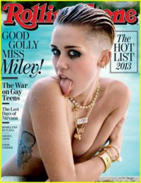 Майли Сайрус снялась топлесс для обложки журнала Rolling Stone