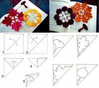 Детские осенние поделки: снежинки-листочки