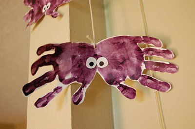 Детские поделки на Хэллоуин: пауки