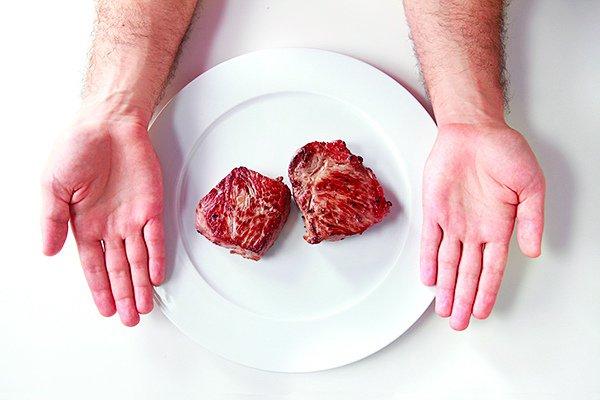 Простое «правило рук» для определения оптимальной порции для человека