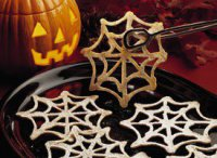 Печенье паутинка на Хэллоуин