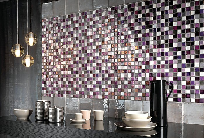 Керамическая мозаика на кухне