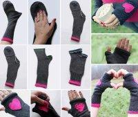 Теплые рукогрейки из носков