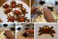 Пирожные «Паучки» на Хэллоуин