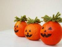 Детские поделки к Хэллоуину: тыковки из апельсинов
