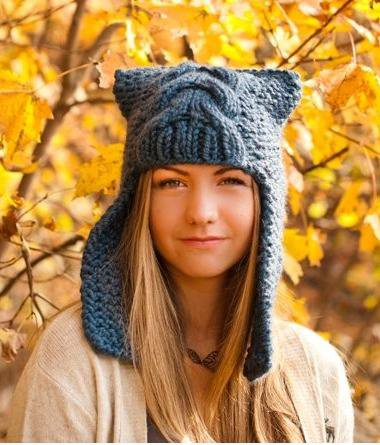 Тренд осени 2013: вязаные шапочки
