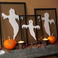 Детская поделка на Хэллоуин: привидения