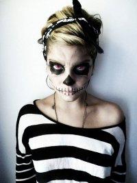Макияж на Хэллоуин: Сахарный череп