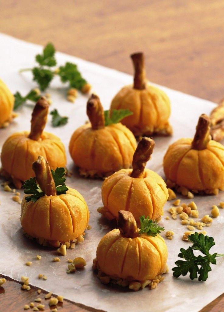 Закуска на Хэллоуин: сырные тыквочки