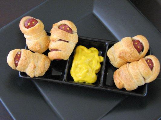 Закуска на Хэллоуин: мумии