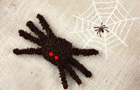 Шоколадный паук на Хэллоуин