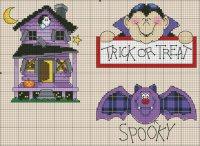 Вышивка на Хэллоуин